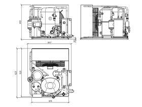 Tecumseh EVO Condensing Unit 2hp R404 LBP EPCL2480Z-1 Phase