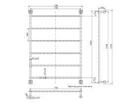 Mizu Bloc Heated Towel Rail 1050 x 760mm Polished Stainless Steel