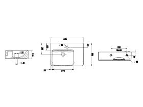 Wolfen Wall Basin Right Hand Shelf 1 Taphole 560 x 395