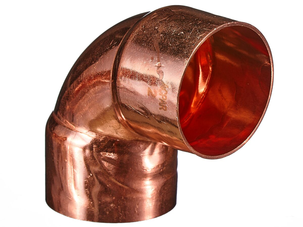 "Ardent Copper Elbow 2"" ID x 90 Degree Packet of 1"""