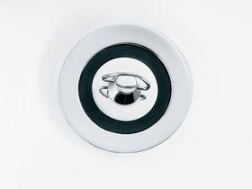 Base Standard Plug & Waste 32/ 40mm x 80mm Rubber/ Loop Overflow Chrome