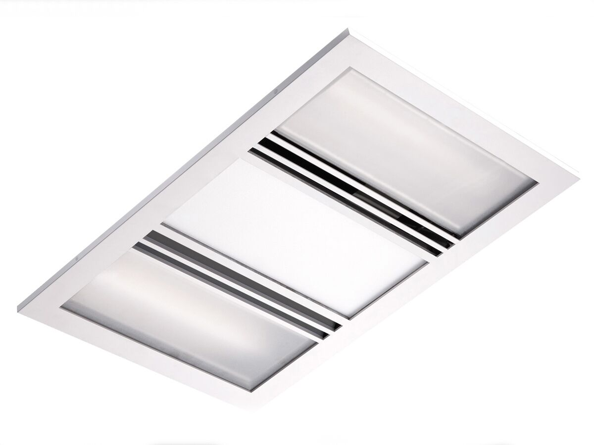 Kado Lux 3 In 1 Heat Lamp Exhaust White From Reece