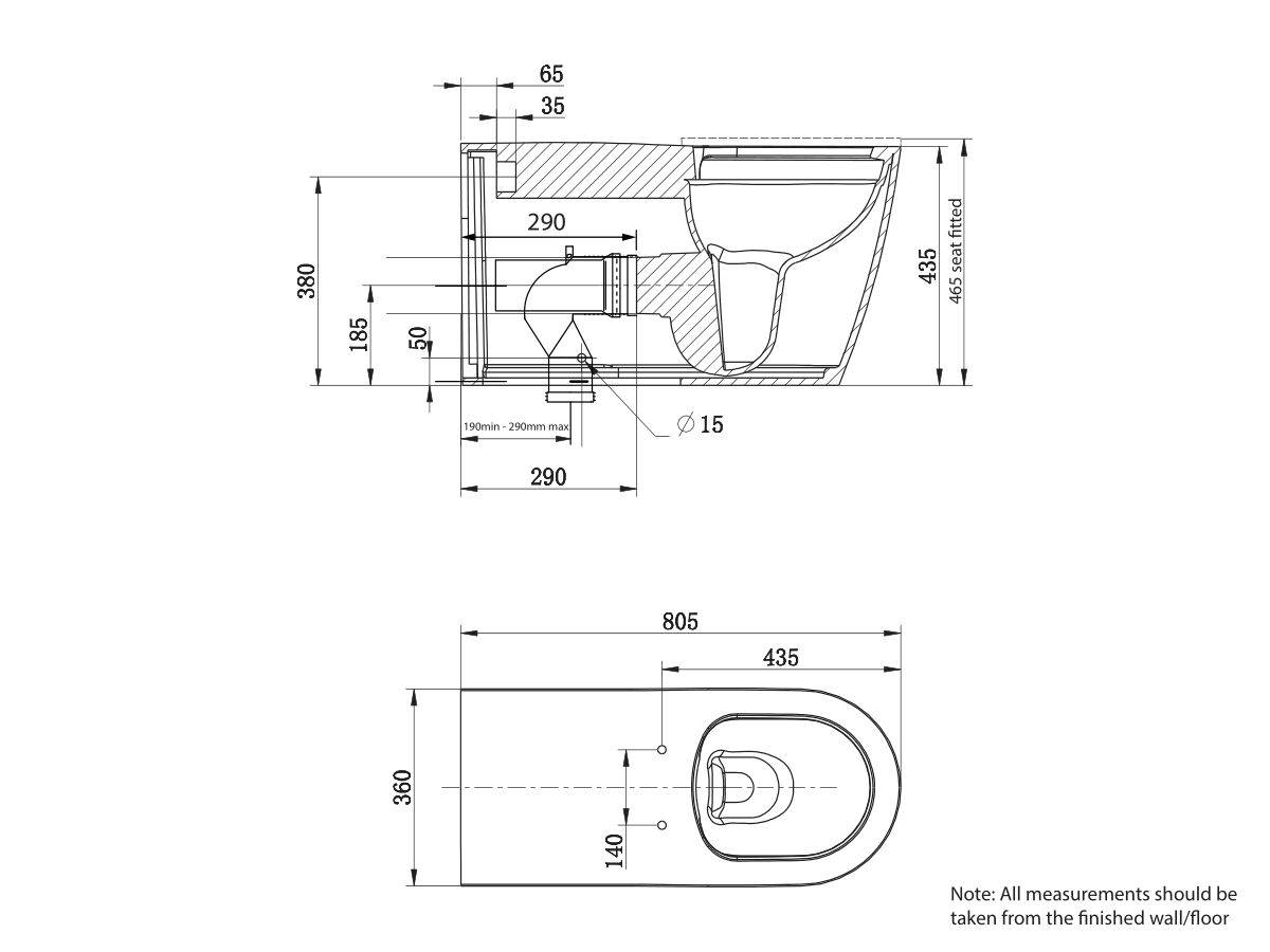 Wolfen 800 Back to Wall Pan (4 Star)