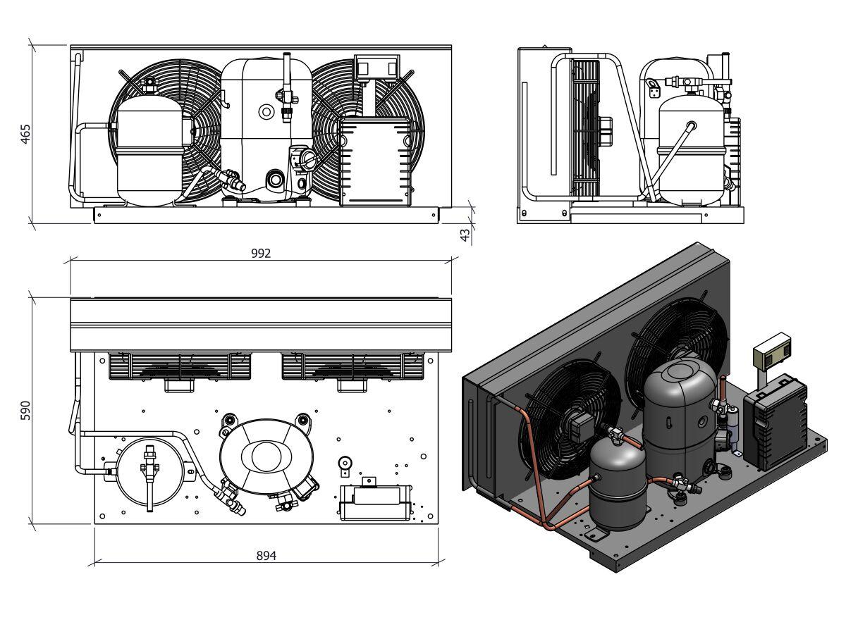 Tecumseh Condensing Unit 1.5HP R134A MHBP FHT4518YHR