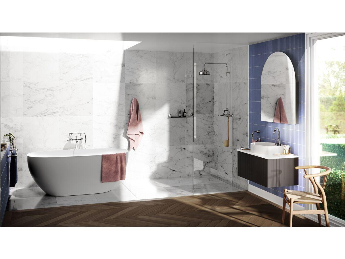 Milli Voir Wall Telephone Bath Set Lever Handles Chrome (3 Star)