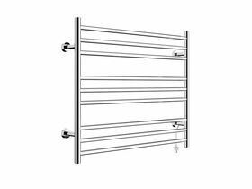 Posh Domaine Heated Towel Rail 750mm x 700mm Polished Stainless Steel