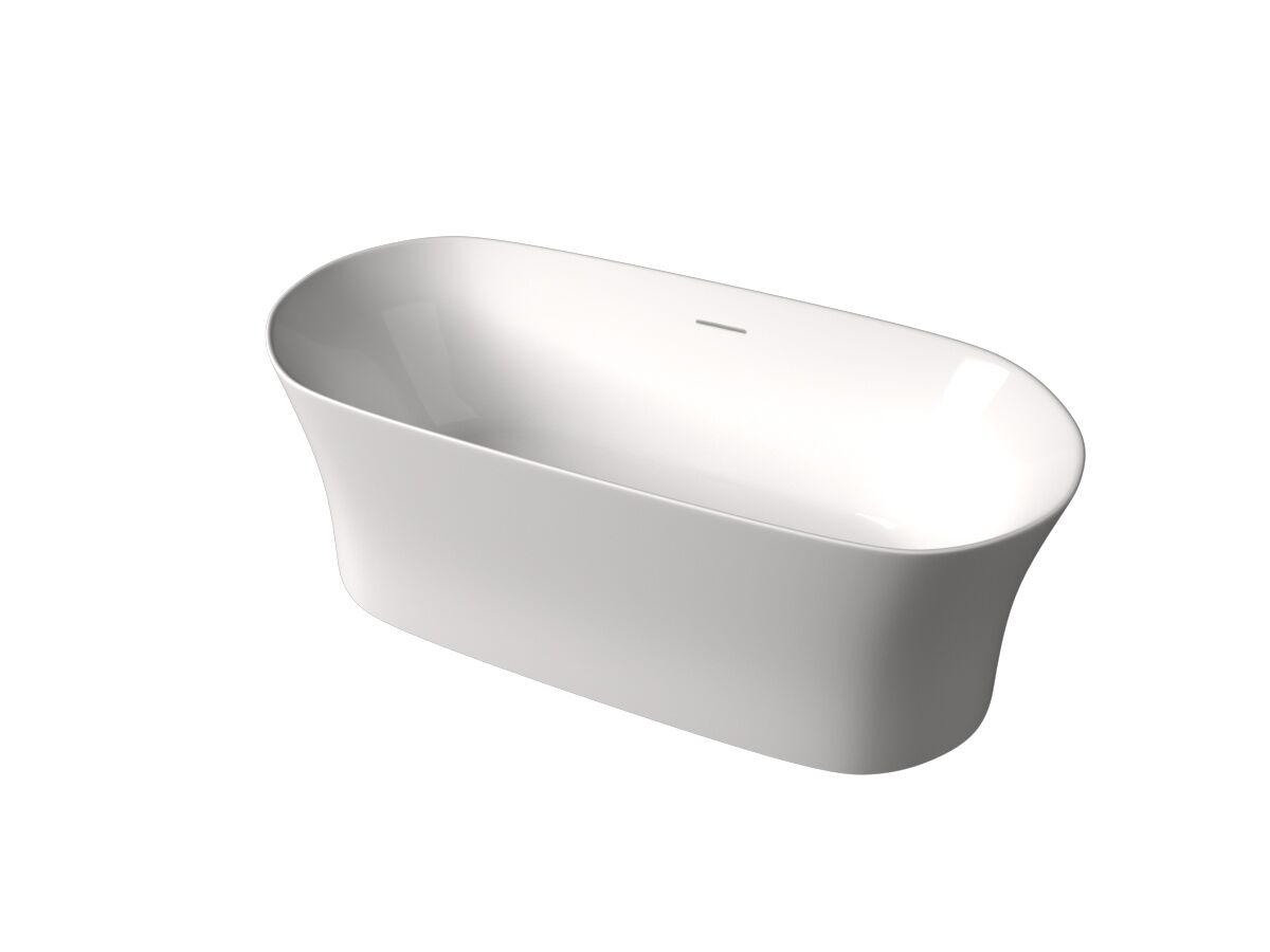 Roca Inspira Freestanding Bath with Overflow 1800x800 White