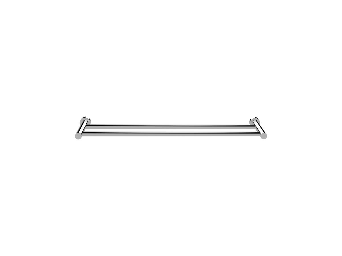 Scala Double Towel Rail 700mm Chrome