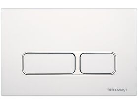Hideaway+ Rectangle Button/ Plate Inwall ABS White