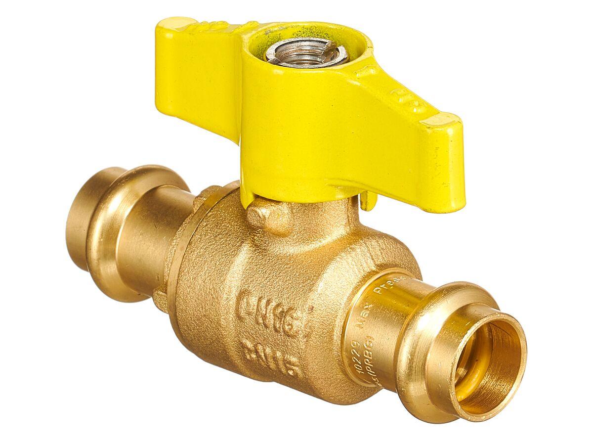QT Ball Valve Gas Tee Handle Copper DN15 x DN15