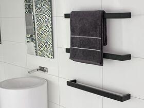 Kado Lux Quad Heated / Non Heated Towel Rail Black