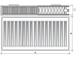 Purmo Compact C22 Drawing