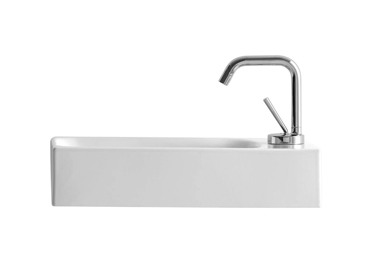 AXA Cento Mini Wall Basin Right Hand with Fixing 1 Taphole 450 x 250mm White