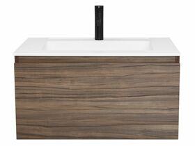 Tasca Slimline Wall Hung Vanity Unit Single Bowl 750mm