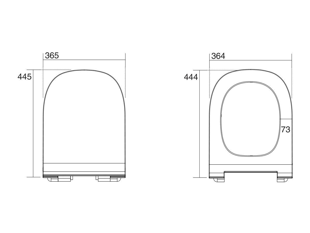 AXA Uno Rimless Soft Close Quick Release Seat