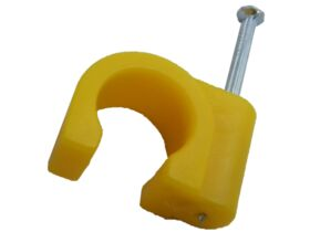 Rifeng Pipe Clips with Nail Yellow for Gas Pipe