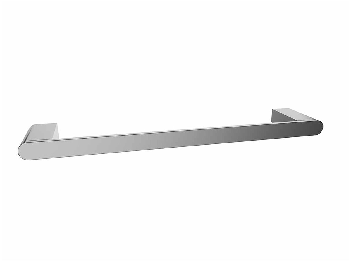 Mizu Soothe Single Towel Rail 750mm Chrome