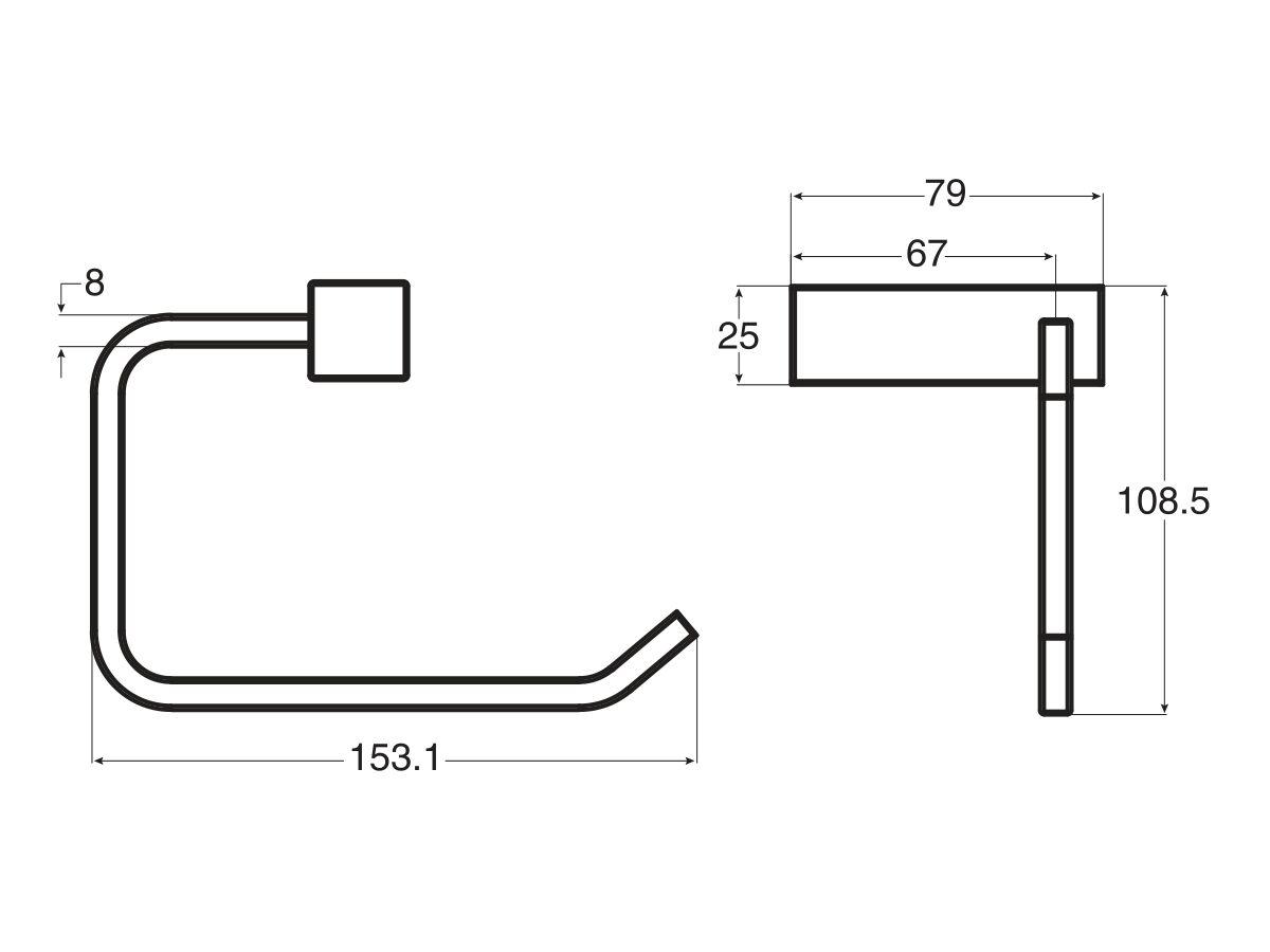 Mizu Bloc MK2 Toilet Roll Holder