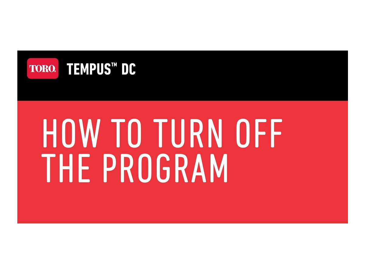 How to turn off the program