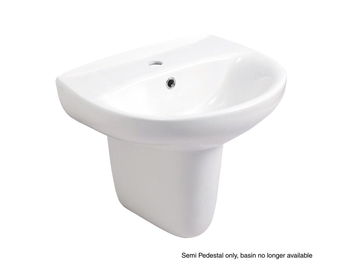 Victoria Semi-Pedestal White