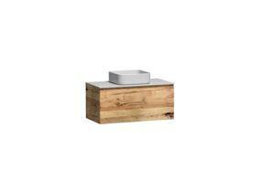 Kado Arc Timber All Drawer 900 Vanity Corian 12mm Top
