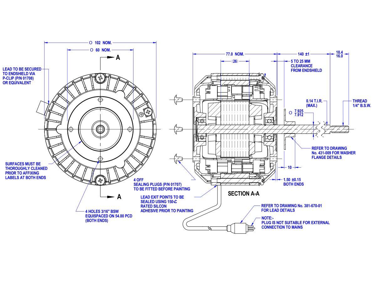 50D521-76AT AGGI Motor