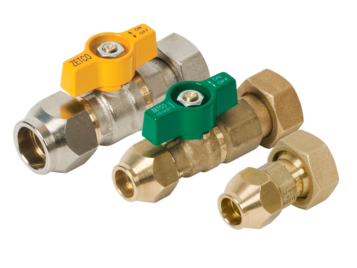 Zetco Valve Kit - Water & Outlet Fitting Family Flared and Gas Family Flared W20/G20