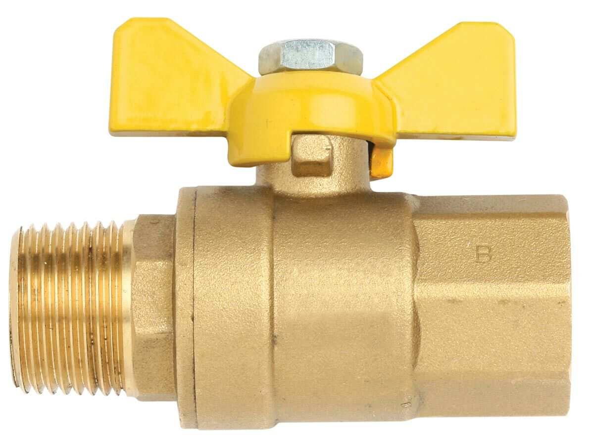 Gas Ball Valve Male/Female Short Handle 15mm