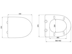Porcher Cygnet Soft Close Quick Release Toilet Seat White