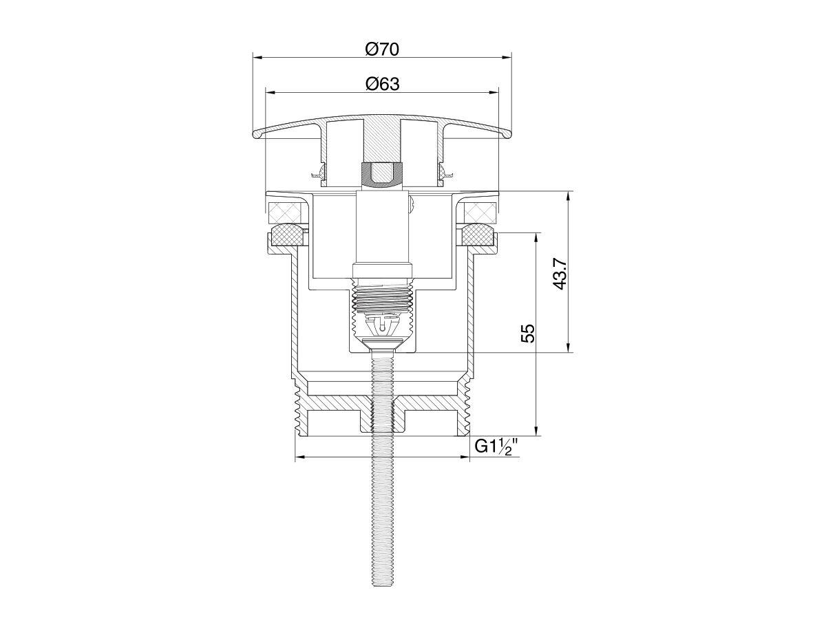 Mizu Drift Universal DN40 Dome Pop Up Plug & Waste