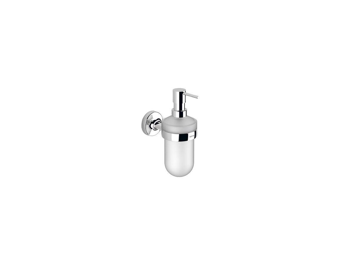 Sonia E-Plus Wall Mount Soap Dispenser Chrome/ Glass