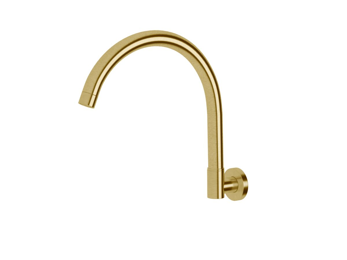 Scala Wall Spa Outlet Curved LUX PVD Brushed Pure Gold