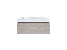 Kado Lussi 900mm Wall Hung Vanity Unit with One Soft Close Drawer Timber Finish