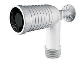 Flexi-Fin Long Elbow with Bracket HDPE Approved