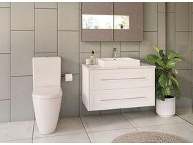 Kado Lux 900mm All Drawer Wall Hung Vanity Unit 2 Drawers Centre Bowl Vanity (No Basin)