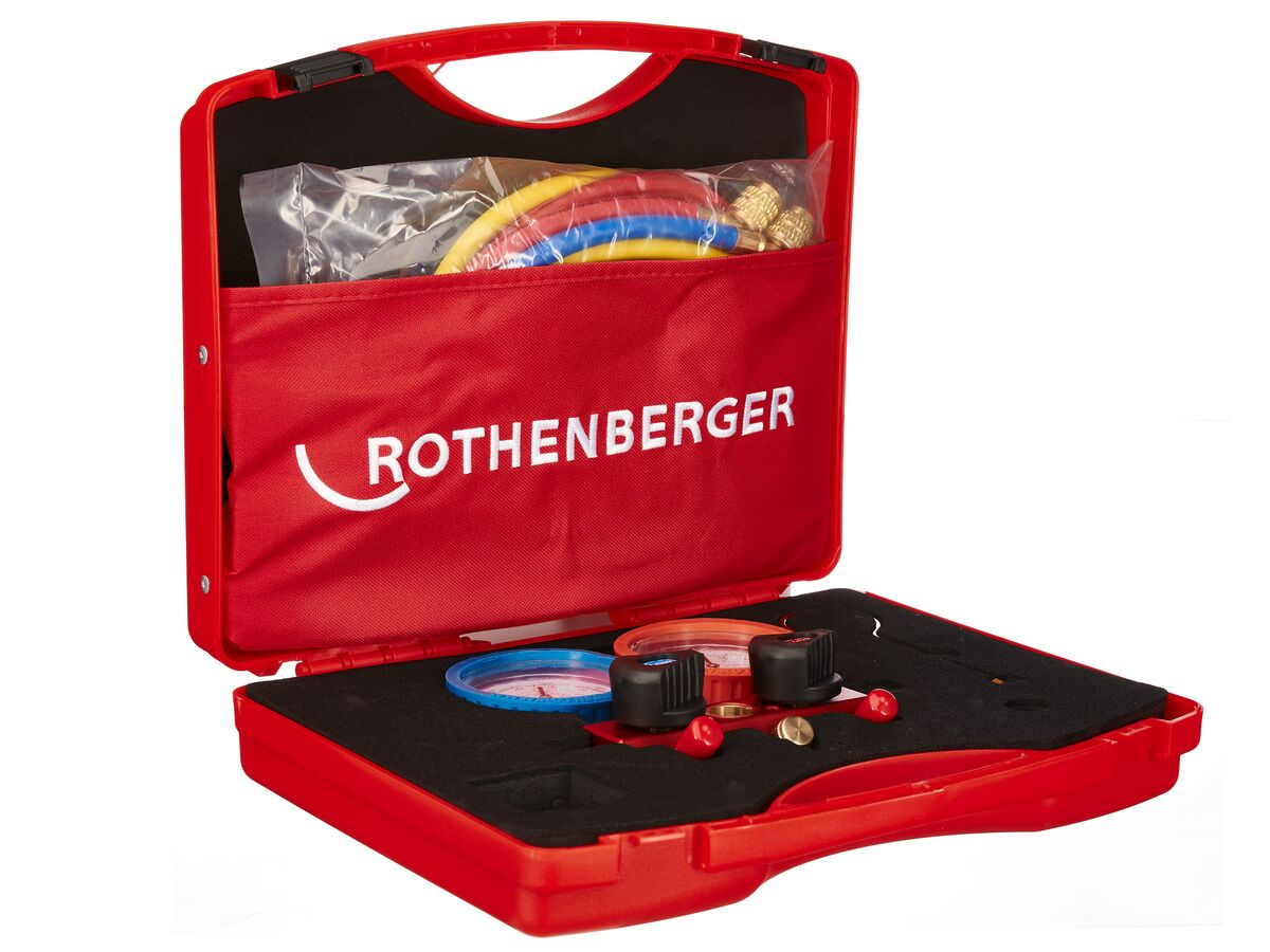 Rothenberger Dual Gas Manifold with 1.5mm Hoses
