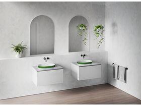 Venice 500 Semi Inset Basin Solid Surface Softskin Emerald Green