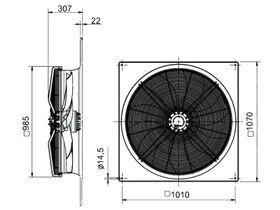 SolerPalau Fan 910mm 3Ph HRST/6-910/15BZ
