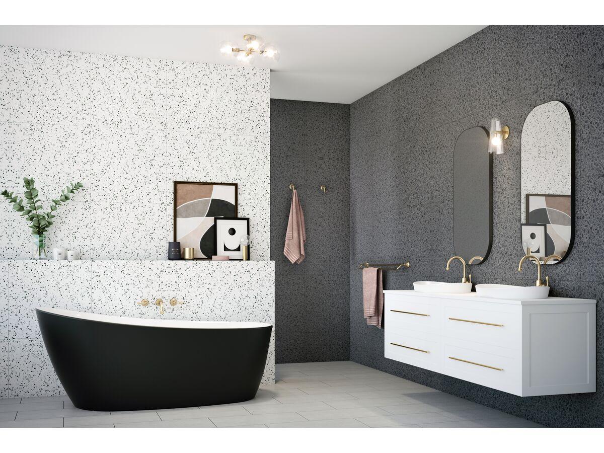 Kado Neue Freestanding Bath 1730 x 780 x 730mm Matte White / Matte Black
