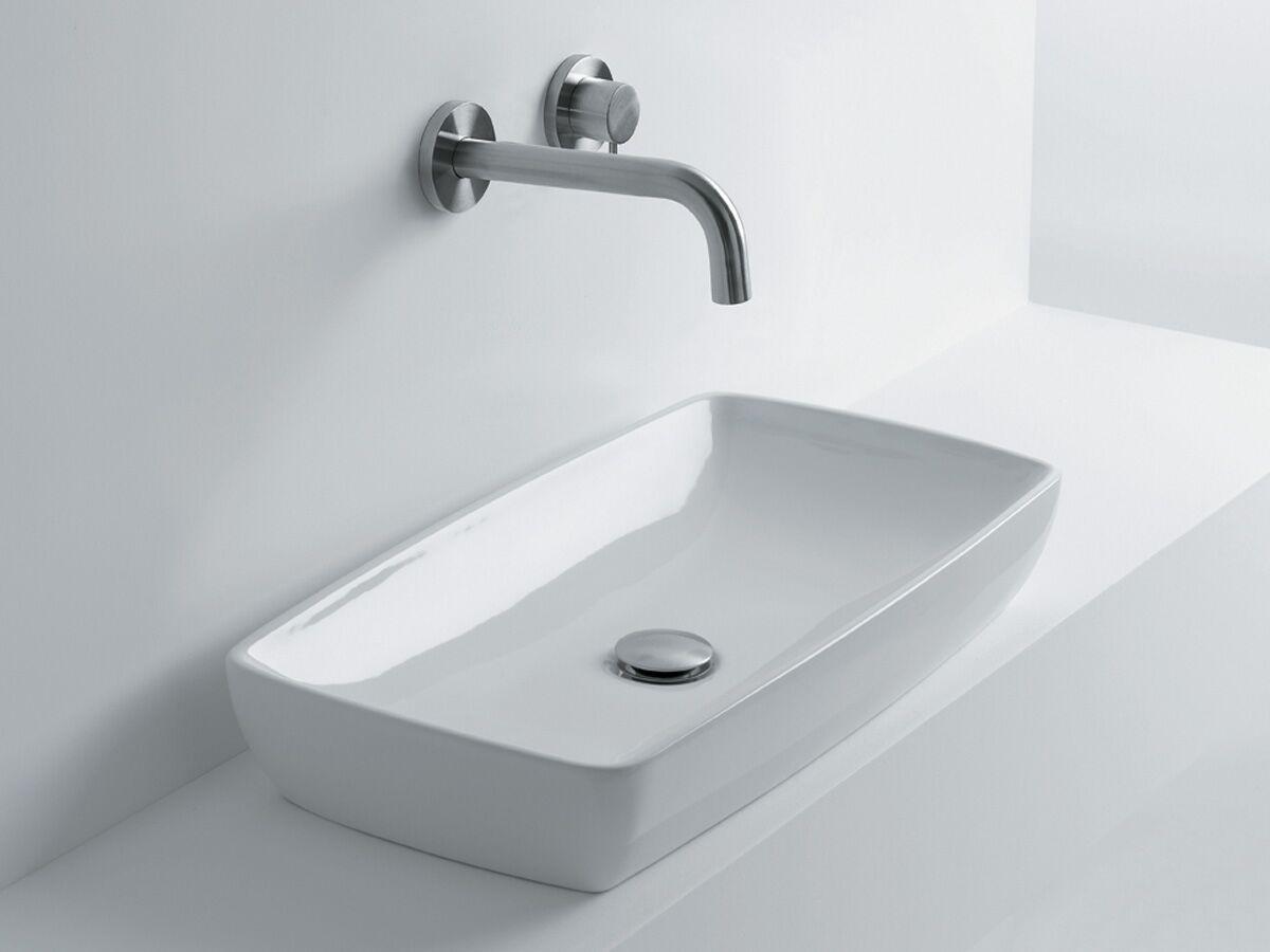 AXA H10 Rectangle Counter Basin 600 x 320mm White
