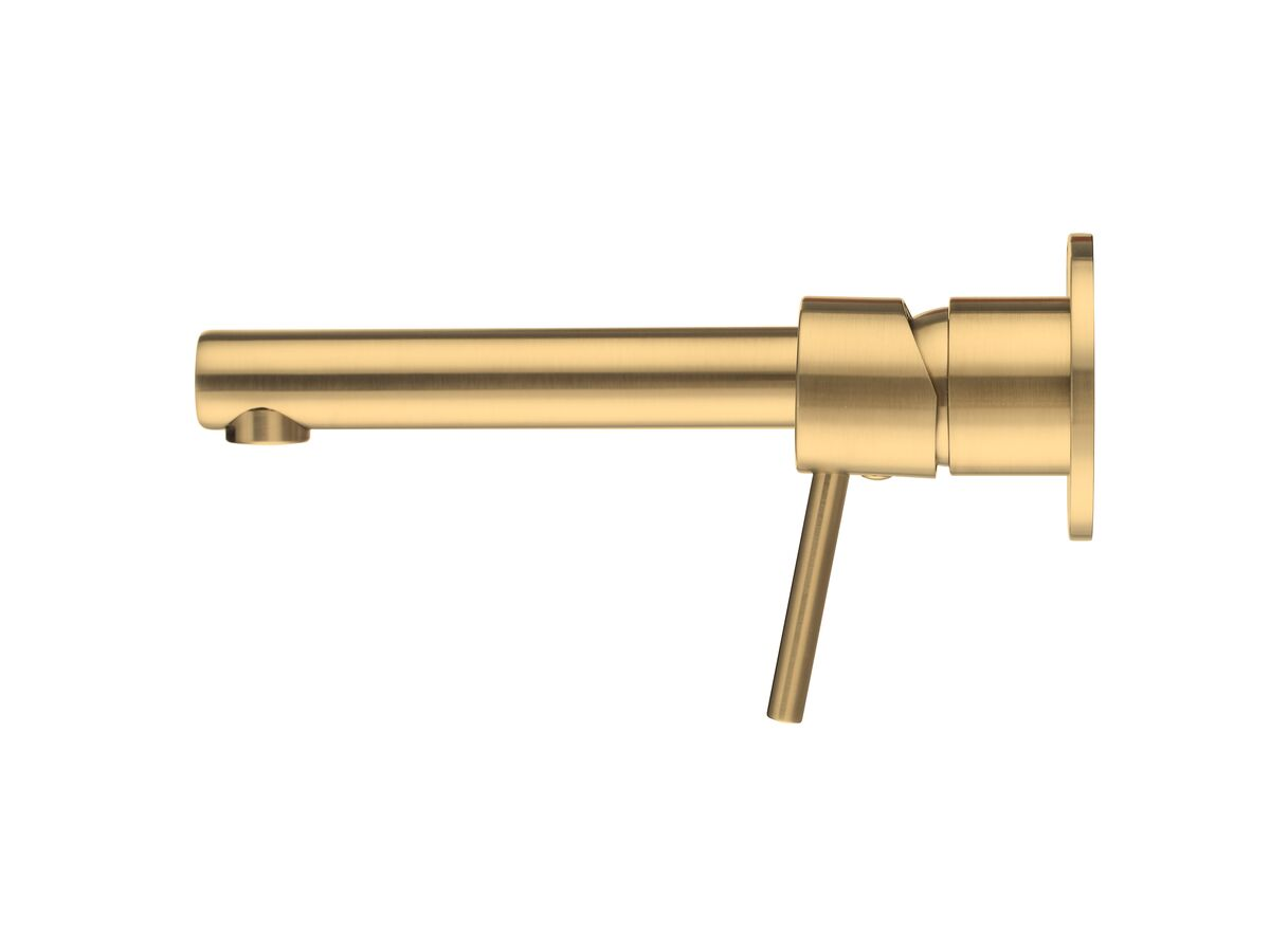 Mizu Drift MK2 Wall Mixer Set with 2 Cover Plate Design Brushed Gold