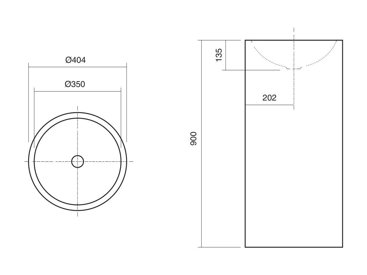 Alape Circa Freestanding Basin 325mm White
