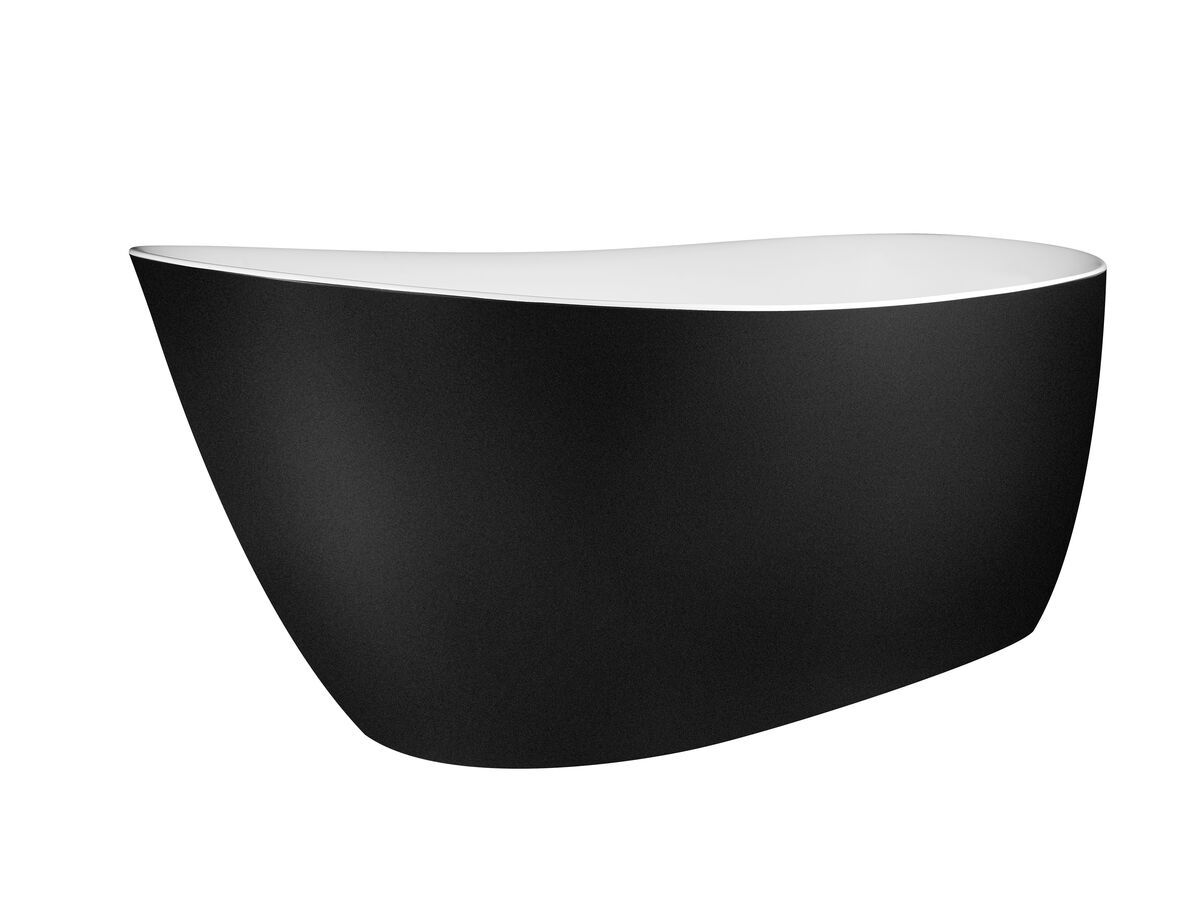 Kado Neue Freestanding Bath 1730 x 780 x 730mm Matte White/ Matte Black