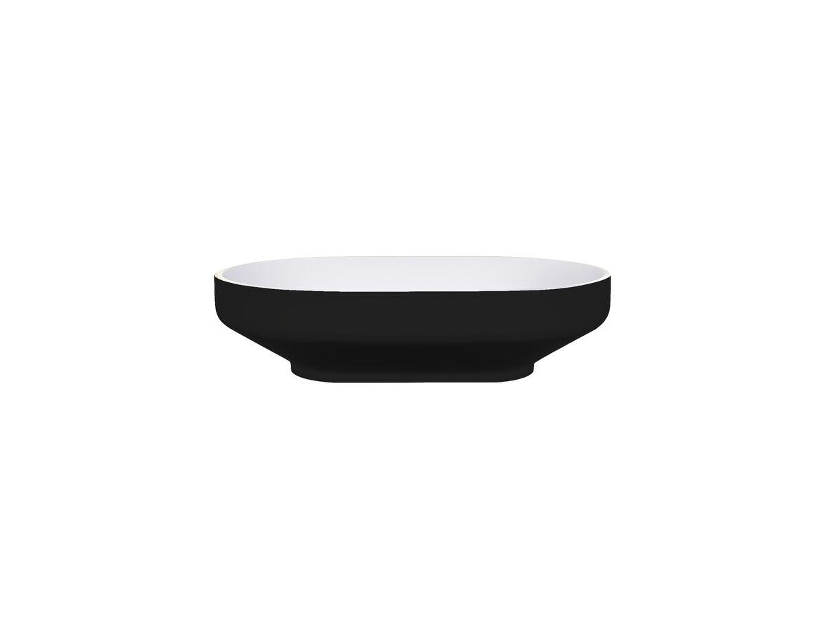 Venice 500 Counter Basin Solid Surface Softskin Black