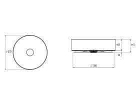Alape Unisono Counter Basin 375mm