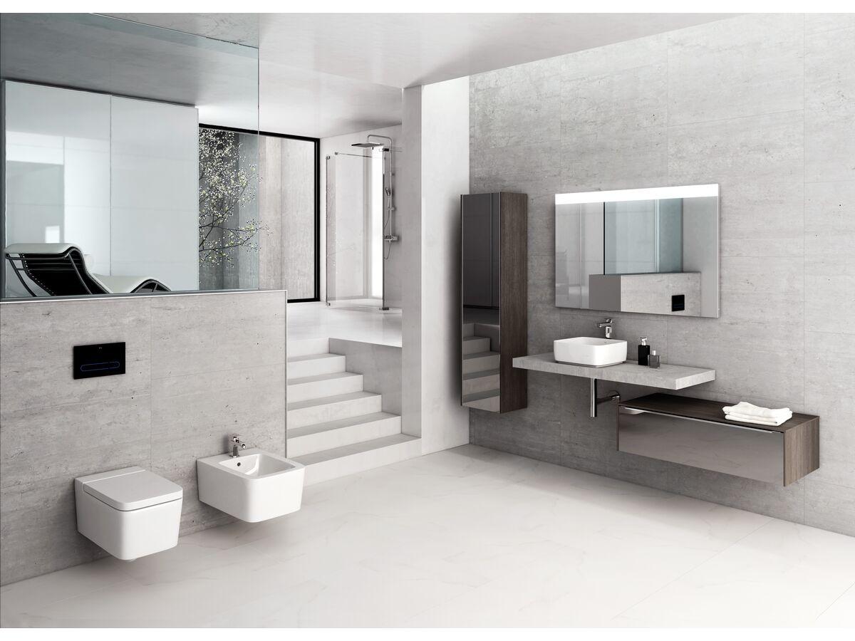 Roca Inspira Soft Square Above Counter Basin 370mm x 370mm Gloss White