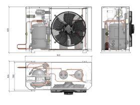 Tecumseh Compac Condensing Unit R404A PACS2480Z 1 Phase