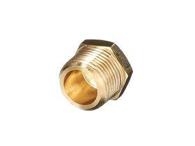 Plug Hex Square Brass 10mm