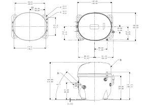 Tecumseh Compressor 1/2hp R404 LBP AE2420Z-FZ1B