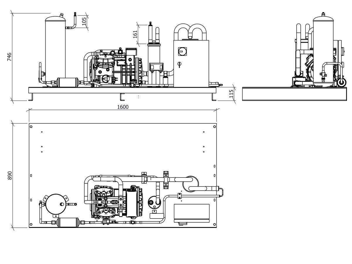 Tecumseh Semi Hermetic Receiver Unit SHR4610ZHR